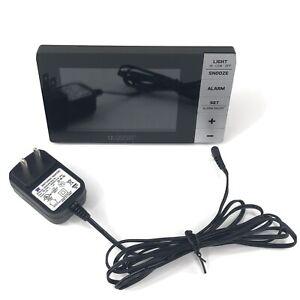 La Crosse Technology Multi-Color Alarm Clock Temp Moon and USB Port Model W88723