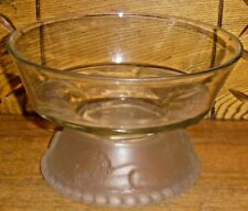 "L.G. Wright Glass Bowl - Lion - 5 1/8"" Tall - 8 1/8"" Diameter"
