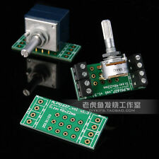 1pc Gold plated stereo Volume potentiometer PCB for ALPS 27 16