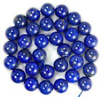 """NEW 12mm  Natural Indigo Lapis Lazuli Round Beads 15.5"""""""