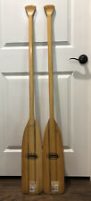 """2 Caviness Feather Brand Wooden Canoe Paddle 52"""" X 6"""""""