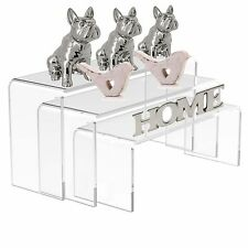 Clear Small Nesting Plinths Acrylic Riser Counter Jewellery Display Stand
