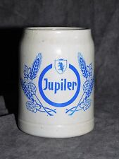 CHOPE A BIERE JUPILER 0.25 L EN GRES DECO BAR LOFT VINTAGE COLLECTION