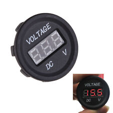 DC 12V-24V Motorcycle LED Digital Voltmeter Voltage Meter Gauge Round Panel $S1