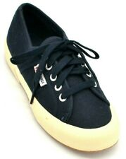 Superga Womens Lace Up Canvas Sneakers US Size 4.5 Navy Blue New