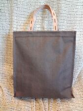 Murval ~ JUTE BURLAP & LEATHER BROWN WOMEN'S HANDBAG TOTE PURSE Large~NEW w/ TAG