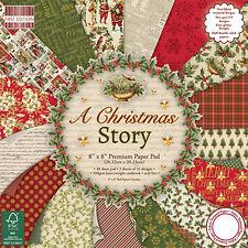 Dovecraft PRIMA EDIZIONE 8x8 Blocco di carta-a Christmas Story-FIGURINE PER ALBUM