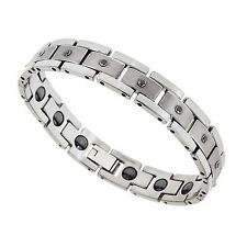 Tungsten Carbide CLASSIC Black Diamond Eternity Bracelet - 9 Diamonds 1/3 ct tw