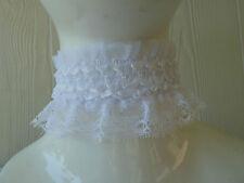 WHITE LACE Choker/necklace.Vintage-Retro-Goth-Emo.Wedding,Party,Fancy dress,C002