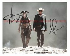 JOHNNY DEPP AND ARMIE HAMMER AUTOGRAPHED 8x10 RP PHOTO THE LONE RANGER CAST