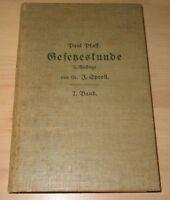 Gesetzeskunde 2.BAND P. PFAFF- VON 1918 Zusammenst. kirchl. & staatl. Verordnung