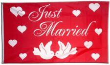 Fahne Just Married Flagge Hochzeits Hissflagge 90x150cm