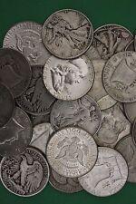 MAKE OFFER 2 Troy Ounces 1964 Kennedy Franklin Walking Junk Silver Coins Bullion