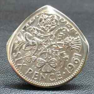British SIXPENCE Coin Small Guitar Pick - Queen guitarist brian may plectrum