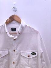 NUOVI Pantaloncini Uomo Camicia a fiori stampati slim Premier COTONE VINTAGE LIBERTY Rosso Bianco