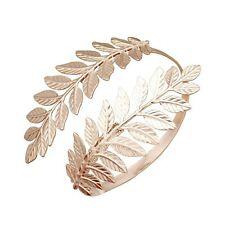 RechicGu Greek Roman Laurel Leaf Bracelet Armband Upper Arm Cuff Armlet Festi...