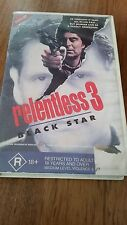 RELENTLESS 3 BLACK STAR - ROBERT COSTANZO - RARE VHS VIDEO