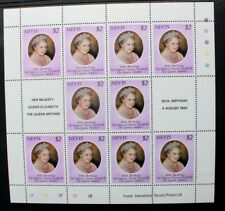 NEVIS 1980 Queen Mother 80th Birthday. 1 SHEETLET of 10. Mint Never Hinged. SG50