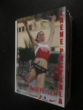 49492 Irene Pusterla Leichtathletik original signierte Autogrammkarte ( Foto)