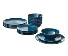 FÄRGRIK 18-Piece Dinnerware Set, Dark Turquoise NEW