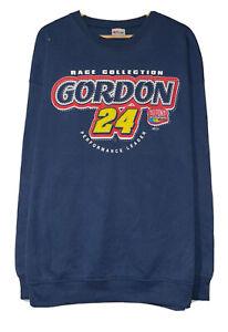 Chase Nascar Jeff Gordon 2005 Motorsports Vtg Men's Sz XXL Navy Blue Sweatshirt