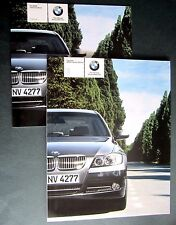 BMW 3 Series Saloon (E46) UK 2005 BROCHURE WITH PRICE LIST - 320 325 330 i d