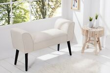 Premium Stool Bench 90cm Cream Designer Retro Repro Production 60