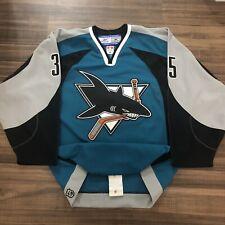 Reebok Authentic San Jose Sharks Vesa Toskala NHL Hockey Jersey SJ Teal Home 48