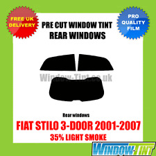 FIAT STILO 3-DOOR 2001-2007 35% LIGHT REAR PRE CUT WINDOW TINT