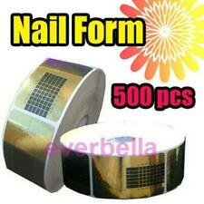 500 PC Nail Art UV French Gel Nail Forms tips extension