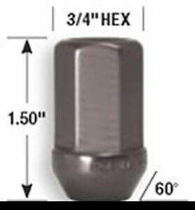 """Gorilla Aluminum Lug Nuts Kit 12-1.50 3/4"""" (19mm) Anodized Titanium 44137TI"""