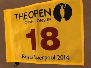 2014 BRITISH OPEN ROYAL LIVERPOOL Rory Pin Flag Masters PGA US Open Golf Flag