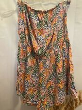 Divided Hm Pink Tropical Floral Strapless Romper Womens Size Us 16