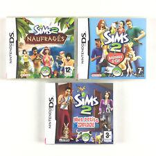 Les Sims 2 Naufragés + Animaux et & Cie + Mes Petits Compagnons Lot 3 Jeu DS