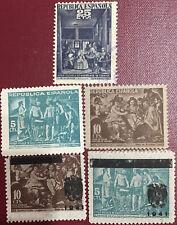 5 SELLOS 1938 BENEFICENCIA VELAZQUEZ (29, 30, 31, NE35 Y NE36) NUEVOS