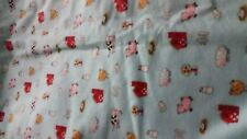 2 layer farm animals chickens 36x43 xlg  flannel toddler personalized  blanket