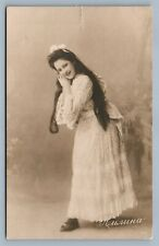 RUSSIAN THEATRE ACTRESS ANTIQUE REAL PHOTO POSTCARD RPPC
