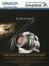 Prospekt brochure Minolta Dimage 7i 8 02 2002 Digitalkamera Kamera Werbung