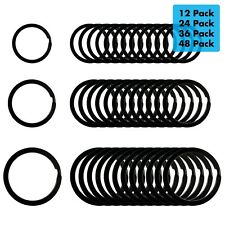 Black Flat Key Rings Key Chain Metal Split Ring (0.75