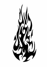 High Detail Flaming Ball Airbrush Stencil - Free UK Postage
