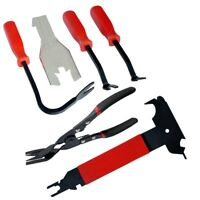 6PC CAR DOOR PANEL TRIM CLIP REMOVAL PLIERS -- UPHOLSTERY REMOVER + 10-in-1 TOOL