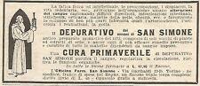 W7373 Depurativo SAN SIMONE - Pubblicità del 1932 - Old advertising