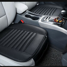 US 1pc Car Auto Truck PU Leather Seat Cover Cushion Pad Bamboo Breathable Black
