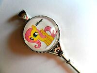 Stunning Large  My Little Pony Key  Silver Curb Chain Necklace Six to Choose