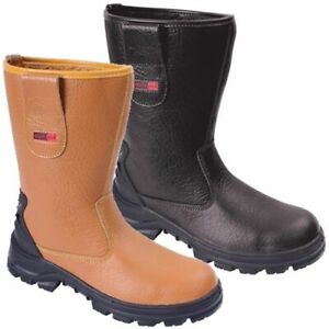 BLACKROCK Fur Lined Rigger Boot Steel Toe Midsole Leather Wide Fit Safety SF01