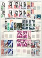 AV142390/ FRANCE – BLOCKS OF 4 – YEARS 1968 - 1973 MINT MNH