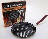 BBQ Grill - Bratpfanne mit Lochboden Gemüsepfanne Ø 32 cm