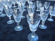 Service verres flutes cristal Baccarat France modèle Hossegor lot 24 verres