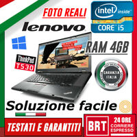"PC NOTEBOOK LENOVO THINKPAD T530 15.6"" CPU I5 4GB RAM BUONO+KEY WIN10 PRO (T520)"
