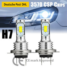 2x H7 Led Scheinwerfer Kit 6000k Xenon Weiß Fern Abblendlicht Birnen Auto Lampen